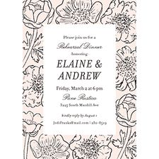 Wildflower Frame Rehearsal Dinner Invitation