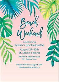 Beach Weekend Bachelorette Party Invitation
