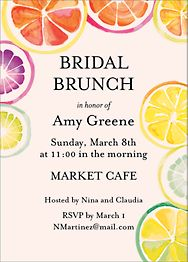 Citrus Brunch Invitation