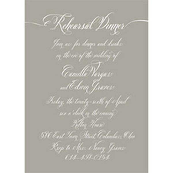 Love Letter Rehearsal Dinner Invitation