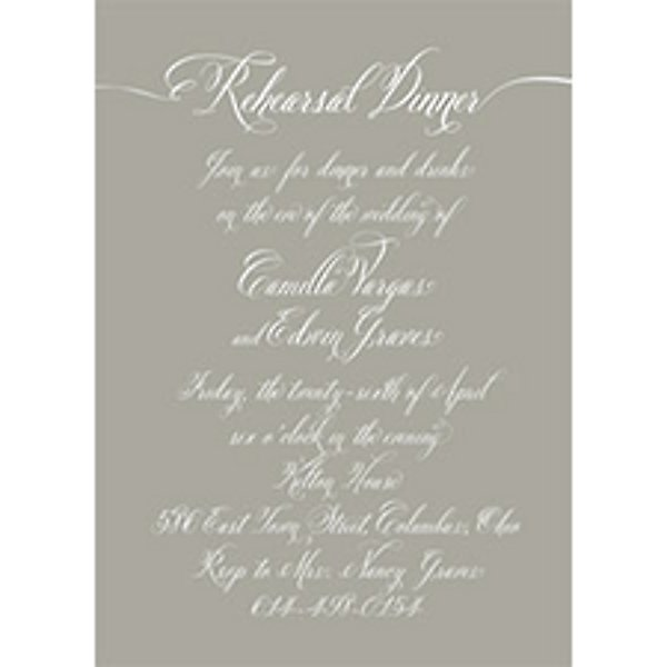 End A Letter With Love.Love Letter Rehearsal Dinner Invitation