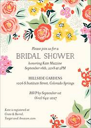 Cottage Rose Bridal Shower Invitation