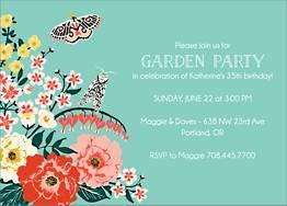 Garden Tea Party Invitation