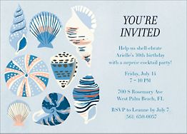 Seashells Party Invitation