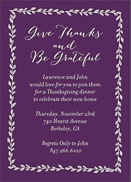 Give Thanks and Be Grateful Invitation