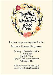 Together Wreath Invitation