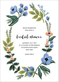 August Herbarium Bridal Shower Invitation