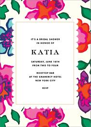 Floral Punch Bridal Shower Invitation