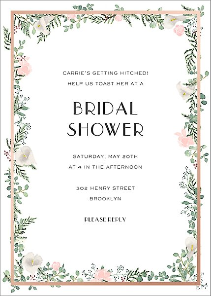 Lautaret Foil Bridal Shower Invitation