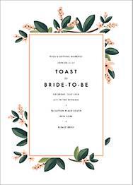 November Herbarium Bridal Shower Invitation
