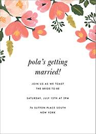 Pastel Petals Bridal Shower Invitation