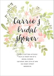 Pressed Blossoms Bridal Shower Invitation