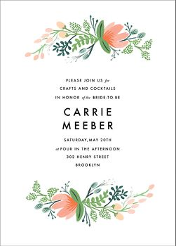 Primrose Garland Bridal Shower Invitation