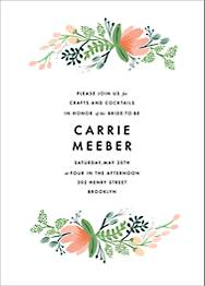 Primrose Garland Bridal Shower Invitation