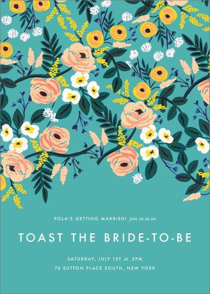 September Violets Bridal Shower Invitation