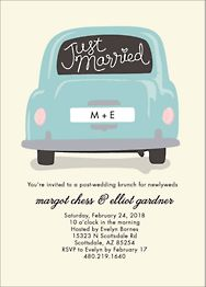 Just Married Car Wedding Brunch Invitation