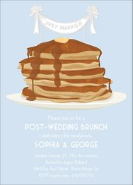 Pancake Topper Wedding Brunch Invitation