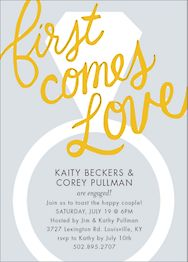 First Comes Love Engagement Party Invitation