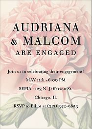 Peony Overlay Engagement Party Invitation