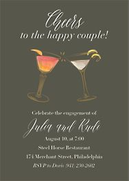Cocktails Engagement Party Invitation
