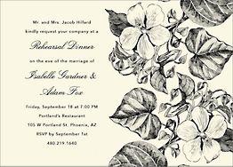 Floral Illustration Rehearsal Dinner Invitation