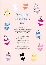 Bikinis Bachelorette Party Invitation