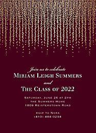 Foil Chandelier Graduation Invitation