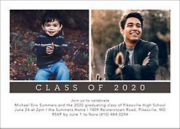 Horizontal Now and Then Graduation Invitation