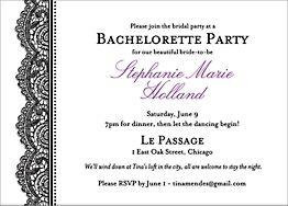 Black Lace Party Invitation