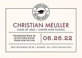 Hats Off Graduation Invitation