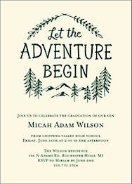 Let the Adventure Begin Graduation Invitation