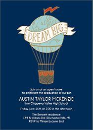 Dream Big Graduation Invitation