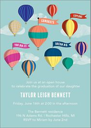 Hot Air Balloons Graduation Invitation
