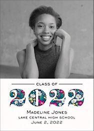 Year Pattern Graduation Announcement