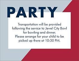 Colorblock Bar Mitzvah Information Card