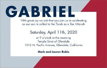 Colorblock Bar Mitzvah Invitation