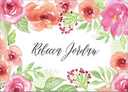 Garden Floral Stationery