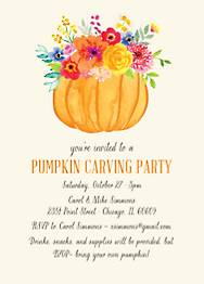Pumpkin Bouquet Halloween Party Invitation