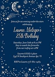 Galaxy Birthday Party Invitation