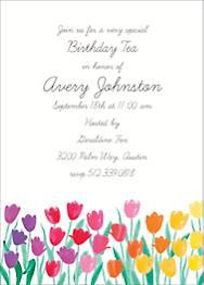 Tulip Birthday Party Invitation