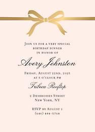 Bow Birthday Party Invitation