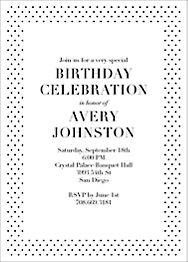Micro Dot Birthday Party Invitation