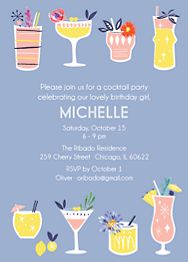 Coctails Birthday Party Invitation