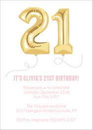 Twenty-One Balloons Birthday Party Invitation