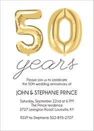 Fifty Balloons Birthday Party Invitation