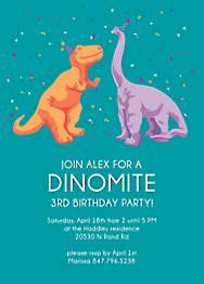 Dinomite Birthday Party Invitation