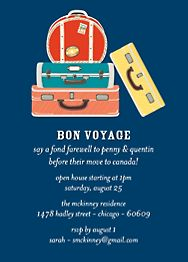 Suitcases Party Invitation