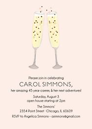 Champagne Toast Party Invitation