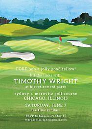 Golf Party Invitation