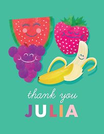 Fruit Friends Thank You Notes